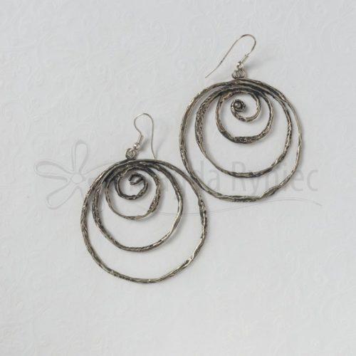 Duże, ażurowe spirale - kolczyki
